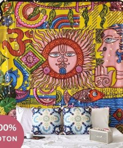 Indien Psychedelisch Baumwolle Tapete