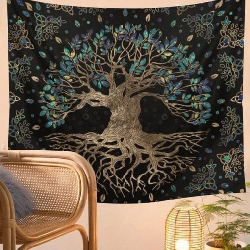 Wandbehang Nordic Tree of Life