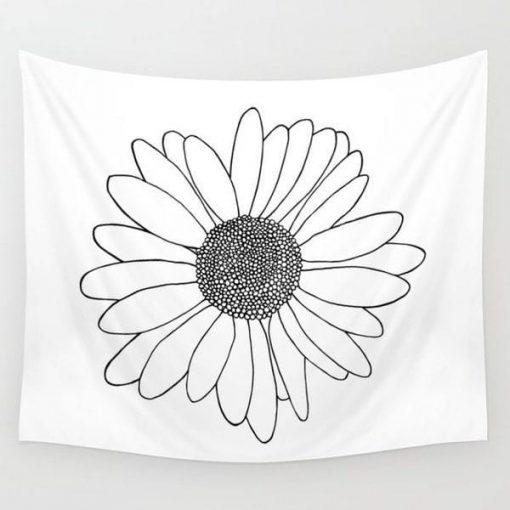 Wandbehang Weiße Blume